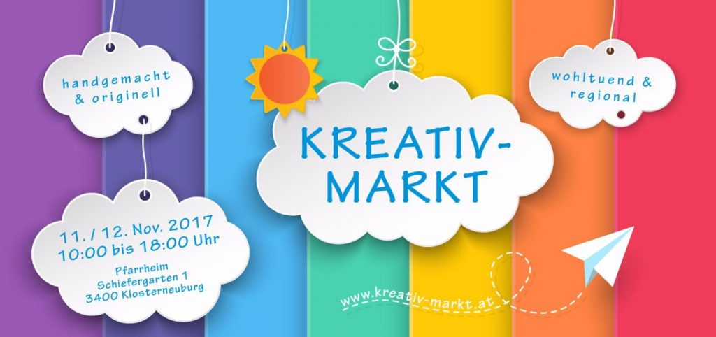 Kreativmarkt 11. / 12. November 10:00-18:00
