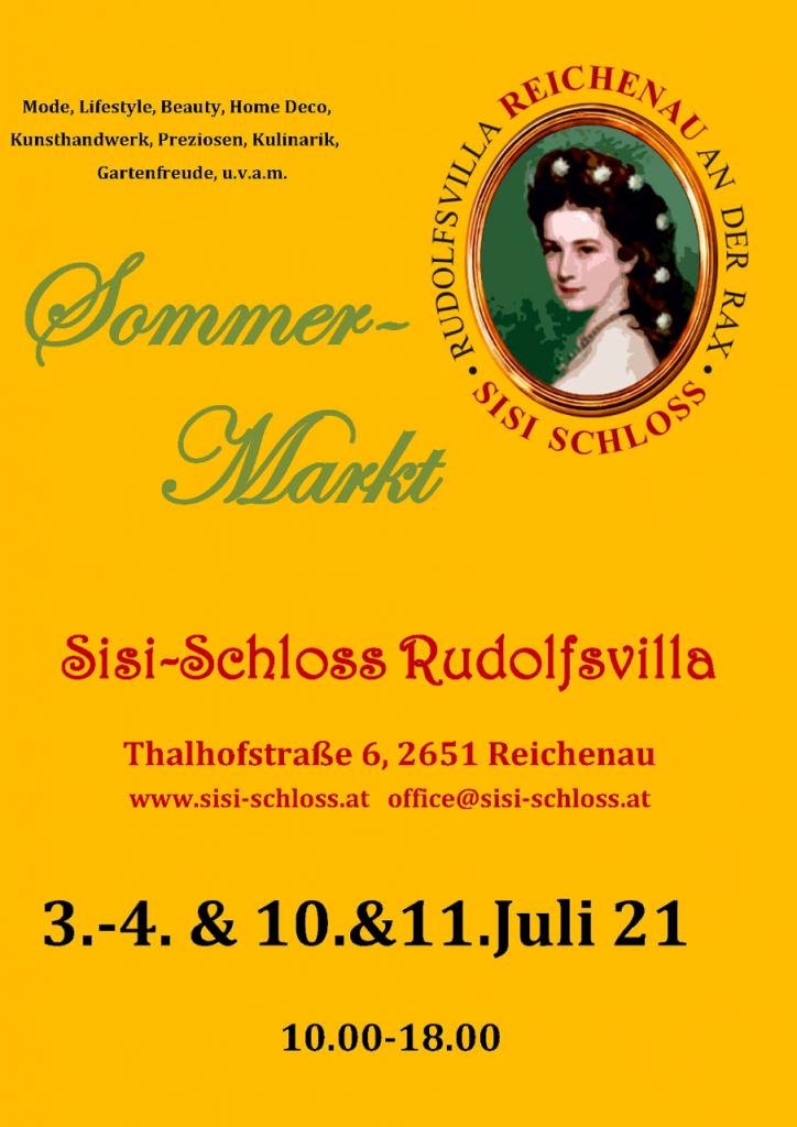 Sommermarkt Sisi-Schloss Rudolfsvilla